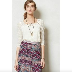 Meadow Rue Anthropologie Melange Top